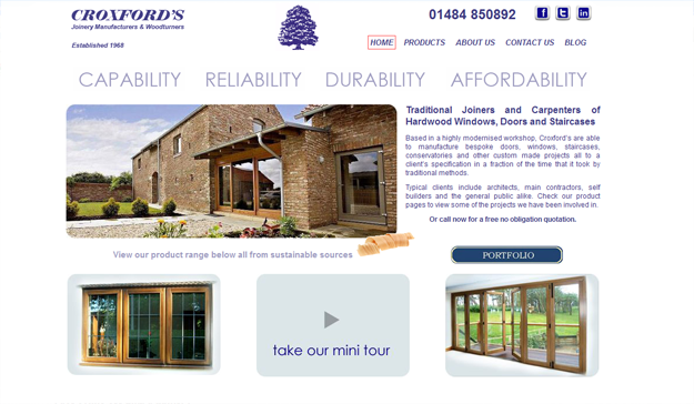 Croxfords Joinery Screenshot